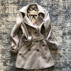 Authentic Burberry Brit Wool Cashmere Coat S4